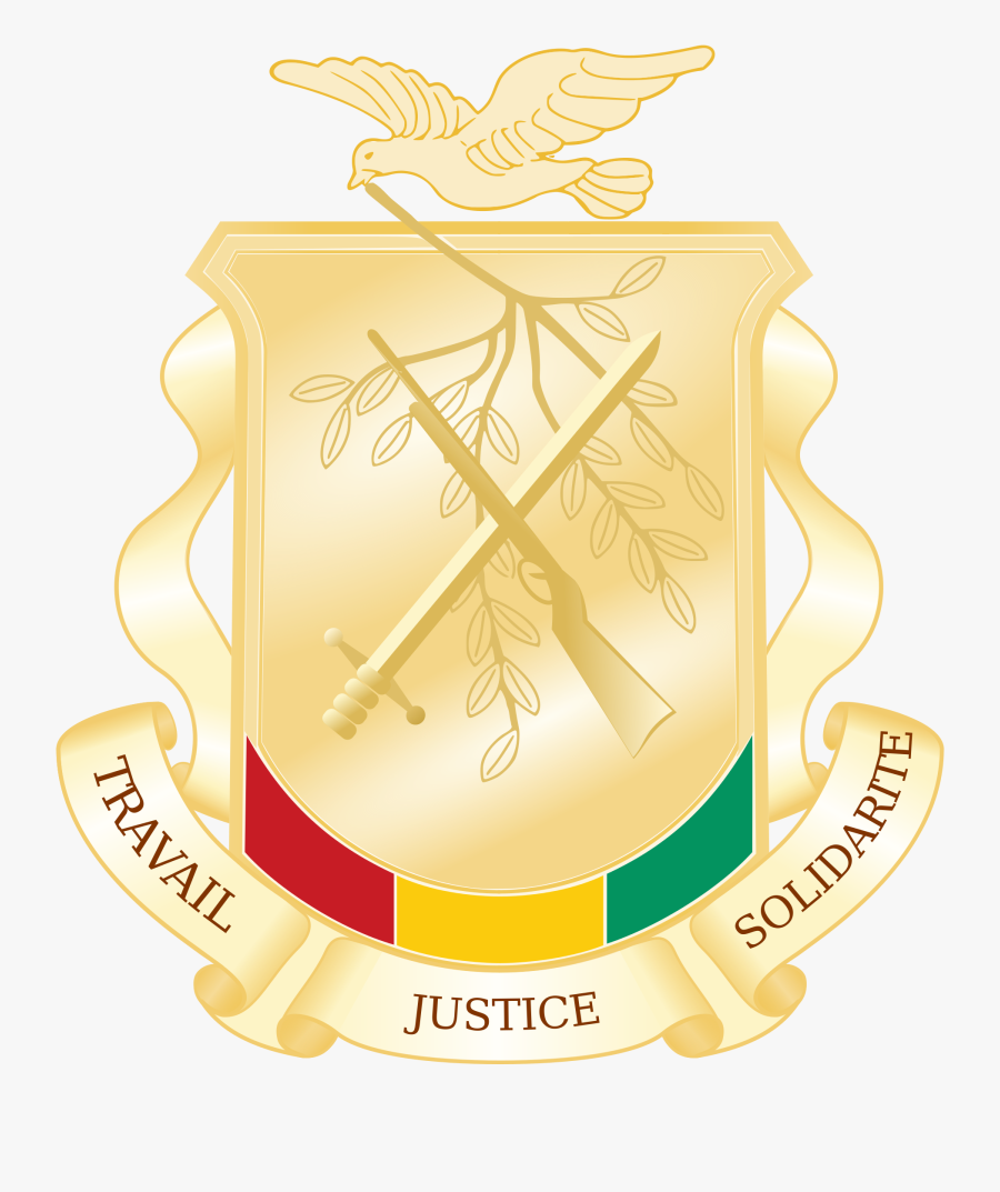 Military Svg Emblem - Coat Of Arms Of Guinea, Transparent Clipart