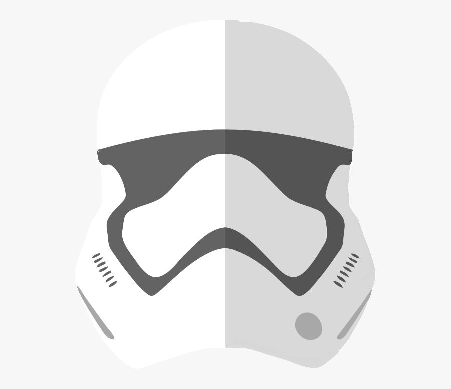 First Order Stormtrooper Helmet Png - First Order Stormtrooper Helmet Vector, Transparent Clipart
