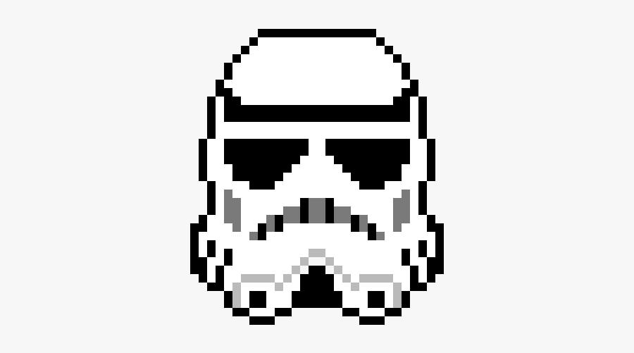 Pixel Art Star Wars Stormtooper Free Transparent Clipart
