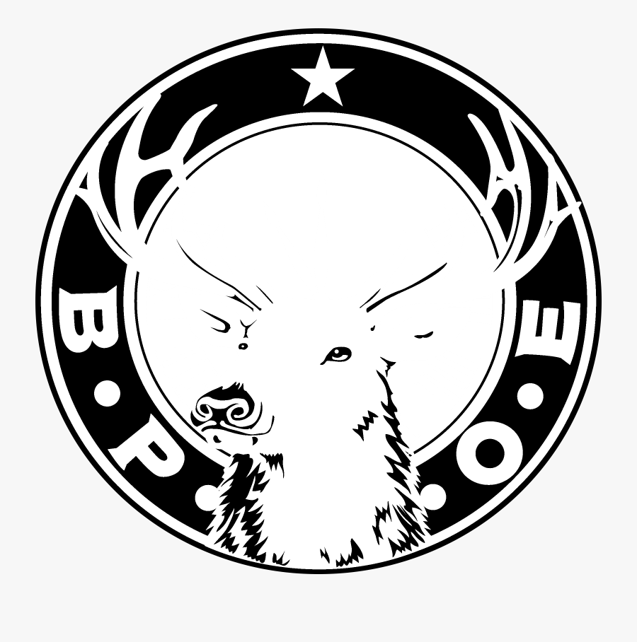 Elks Club Logo Black And White - Elks Lodge, Transparent Clipart