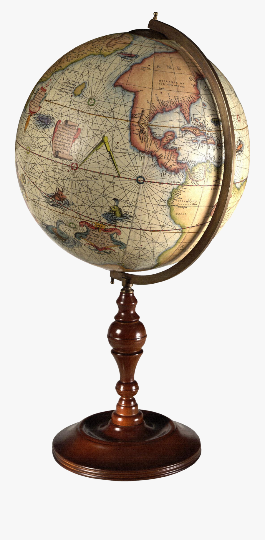 Clip Art Globes Maps - Old Earth Globe Png, Transparent Clipart