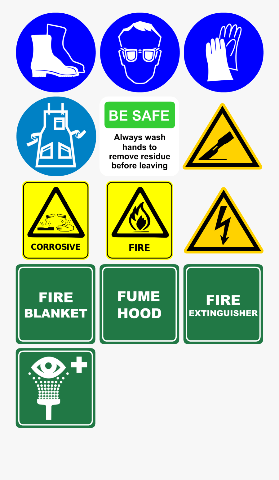 Science Safety Equipment, Transparent Clipart