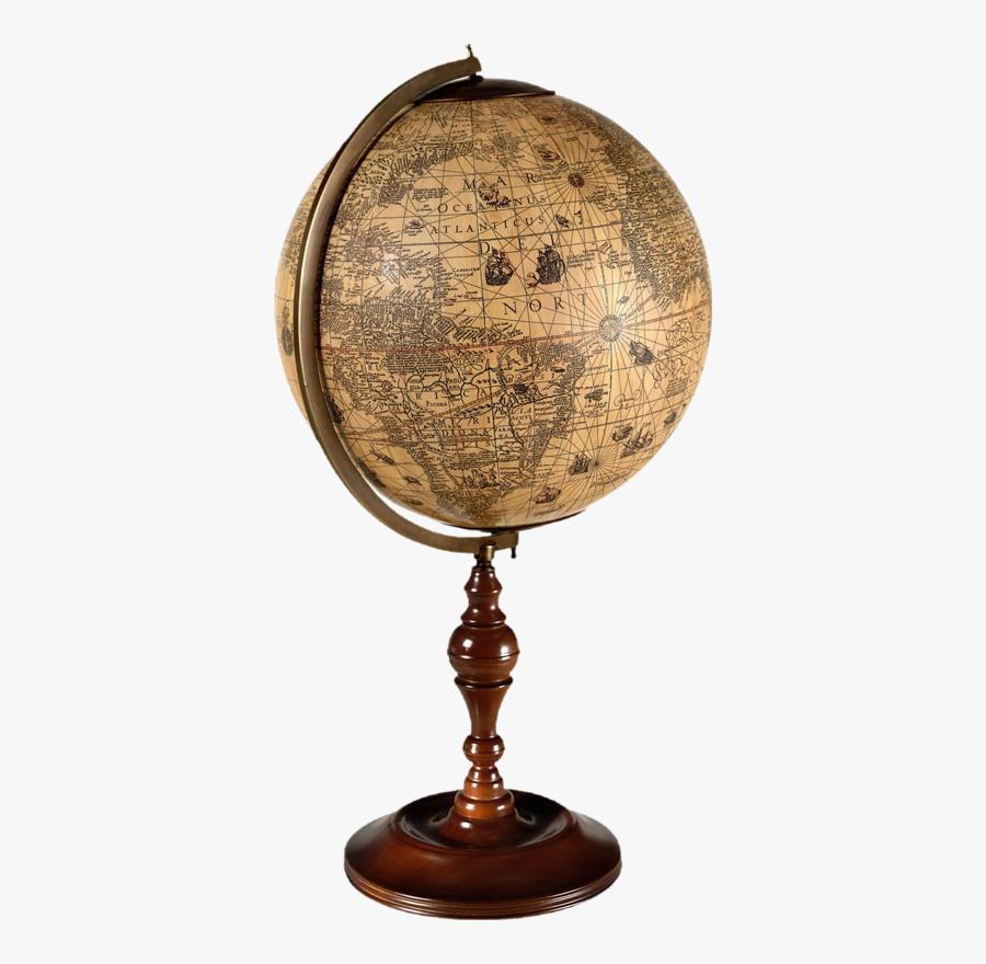 Transparent Vintage Globe Clipart - Old Earth Globe Png, Transparent Clipart