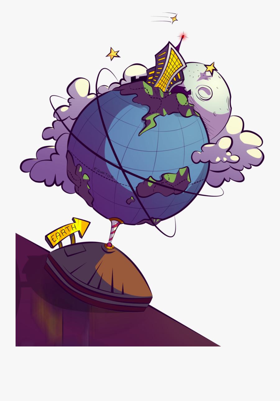 Cartoon Earth Globe Render By Eballen On Clipart Library - Digital Earth Cartoon Png, Transparent Clipart