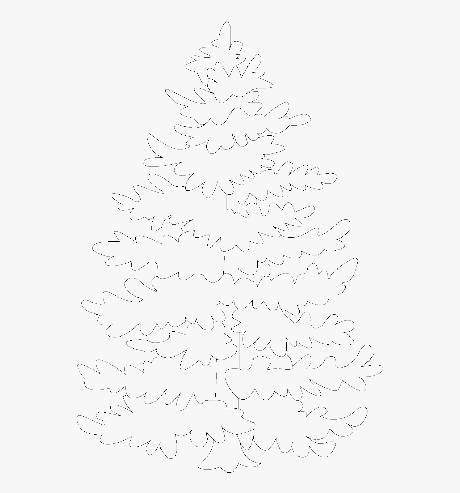 Pine Tree Coloring Pages Coloring Pages For Kids - Christmas Tree, Transparent Clipart