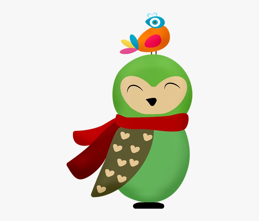 Christmas Owl, Bird, Christmas, Cute, Sweet, Decoration - Bird Christmas, Transparent Clipart