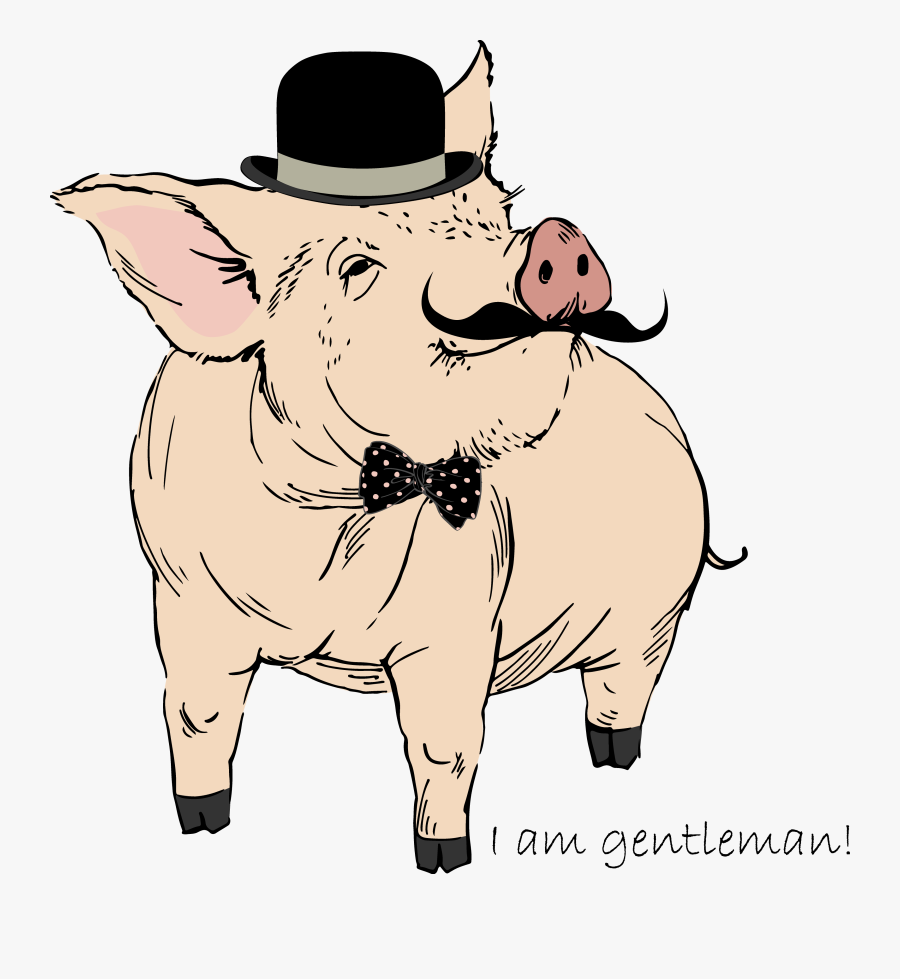 Domestic Royalty-free Printmaking Vector Pig Drawing - Hinckley's Fancy Meats Logo, Transparent Clipart
