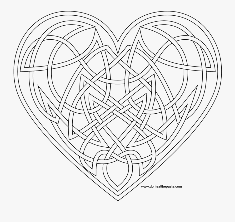 Celtic Heart Coloring Pages Book Hearts The Best Free - Adult Coloring Pages Celtic Heart, Transparent Clipart