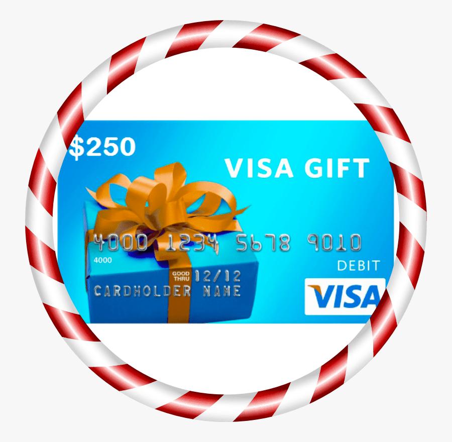 $15 Visa Gift Card, Transparent Clipart