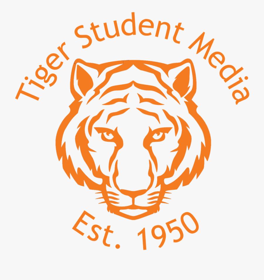 Tiger Student Media Logo - Tiger Face Drawing Easy, Transparent Clipart