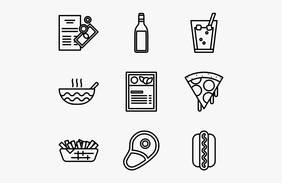 Food And Drink Icon Png, Transparent Clipart