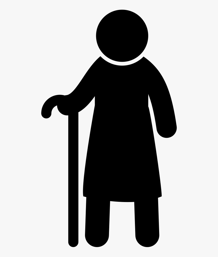 Old Man Standing With A Cane - Old Man Vector Png, Transparent Clipart