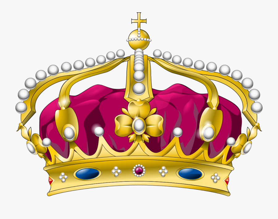 Royal Crown Curved - Queen Crown No Background, Transparent Clipart