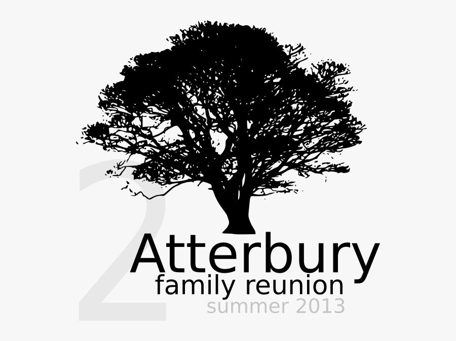 Oak Tree Silhouette Png, Transparent Clipart