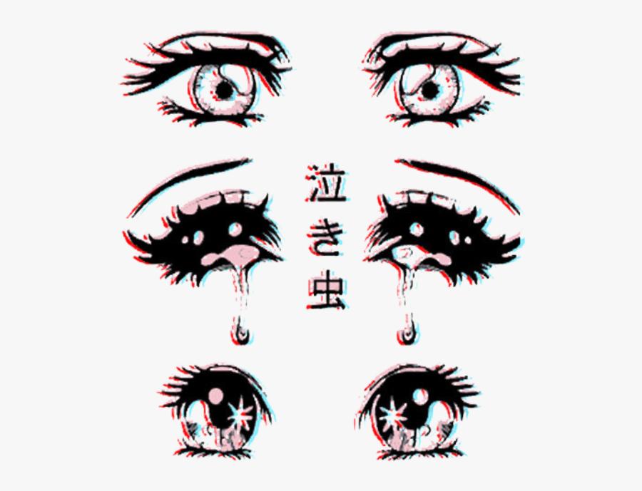 #eye #bad #creepy #blood #dark #black #satanic #666 - Aesthetic Anime Eyes, Transparent Clipart