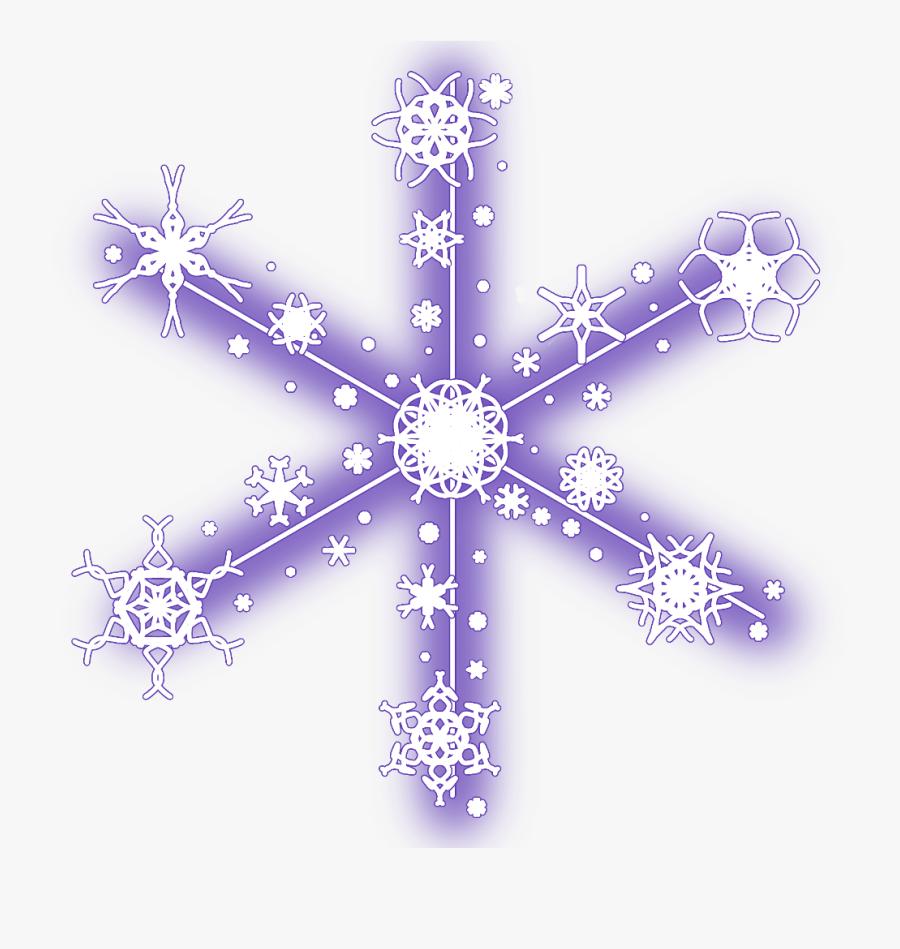 #neon #snow #snowflakes #christmas #snowflake #winter - Christmas Snowflakes Snow Stickers, Transparent Clipart