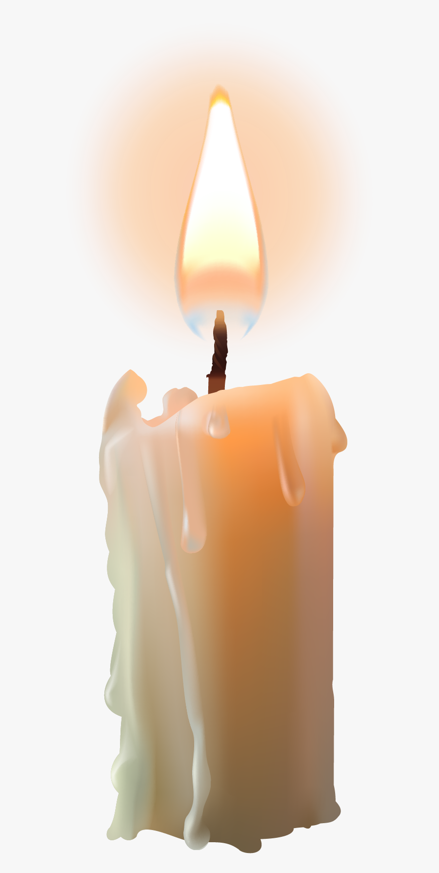 Bright Candle With Flame Png Image - Advent Candle, Transparent Clipart