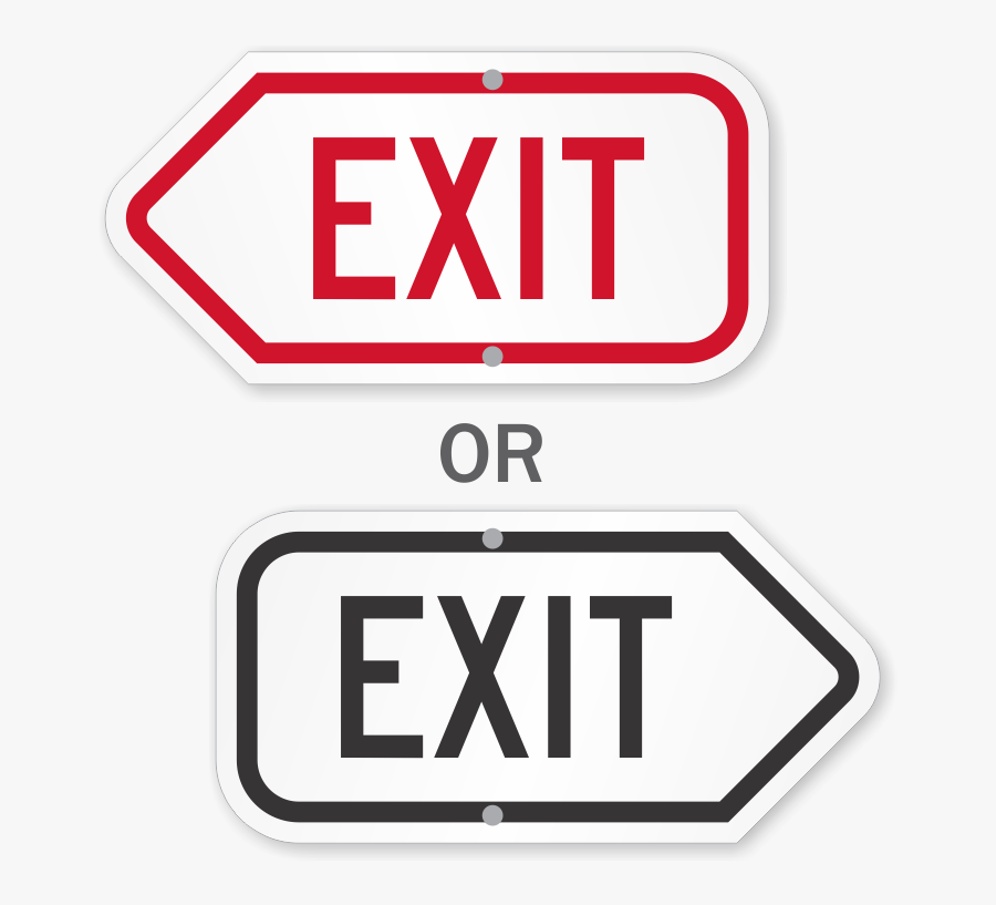 Directional Exit Signs - Exit Only Sign, Transparent Clipart