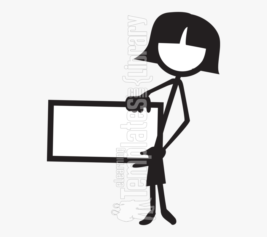 Stick Figure With Long Hair, Transparent Clipart