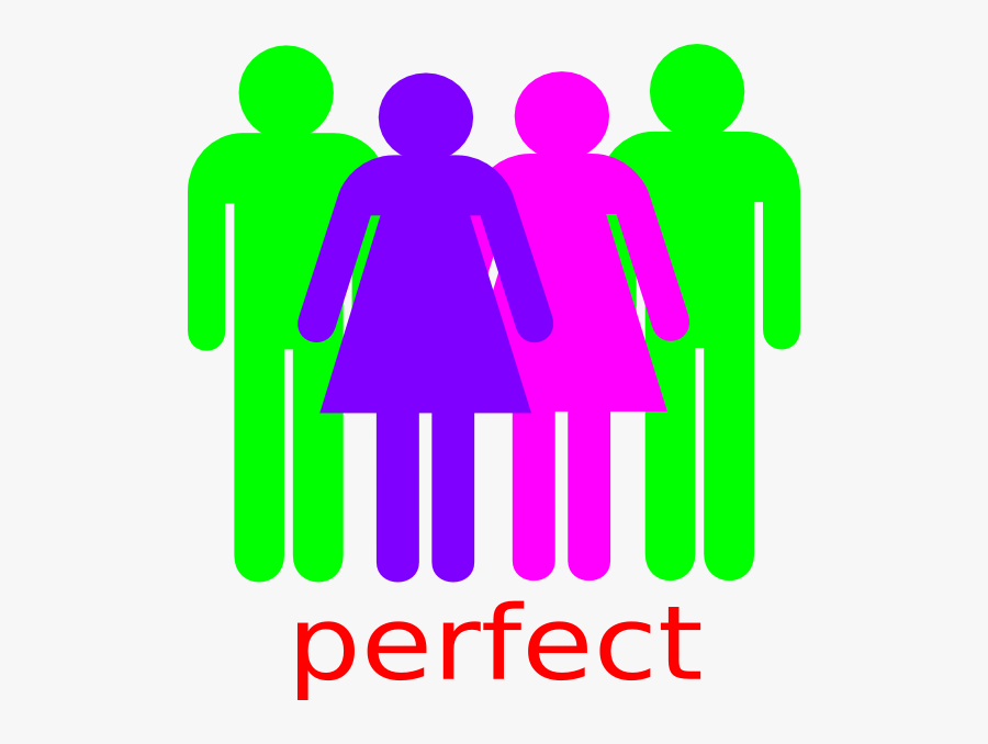 2 Boy And 2 Girl Stick Figures, Transparent Clipart