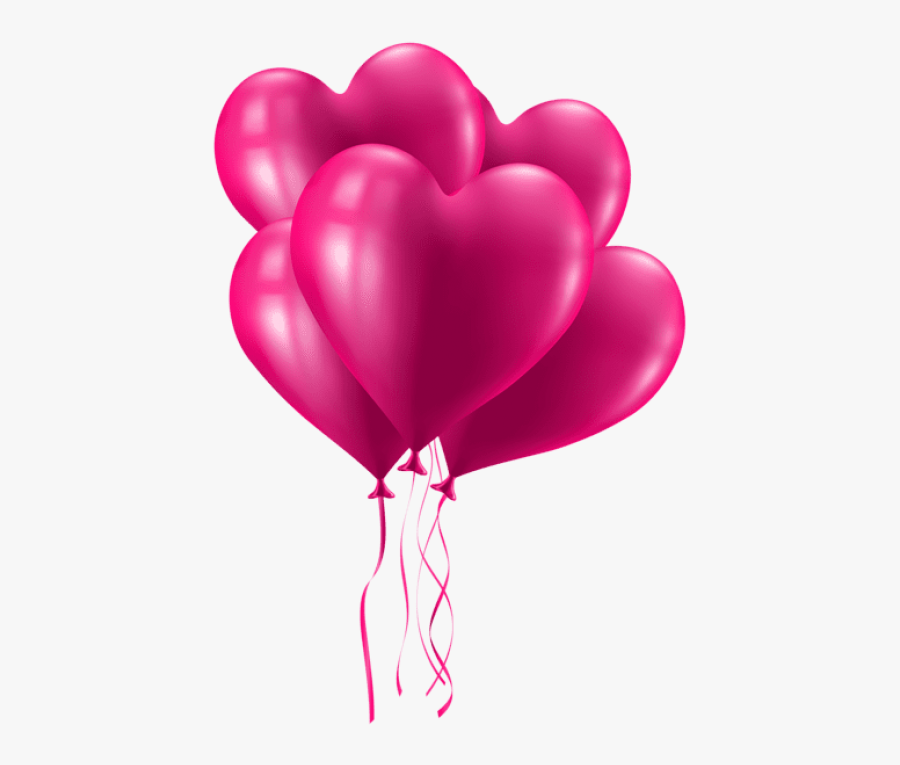 """Free Png Download Valentine""""s Day Pink Heart Balloons - Pink Balloon Png Transparent Background, Transparent Clipart"""