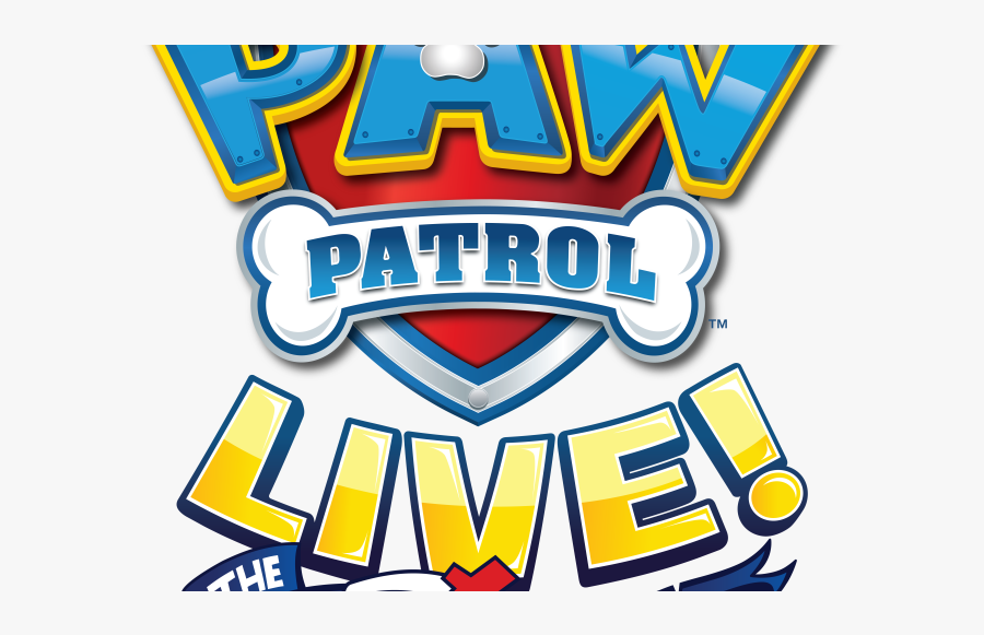 Transparent Paw Patrol Png Images - Paw Patrol Live The Great Pirate Adventure Logo, Transparent Clipart