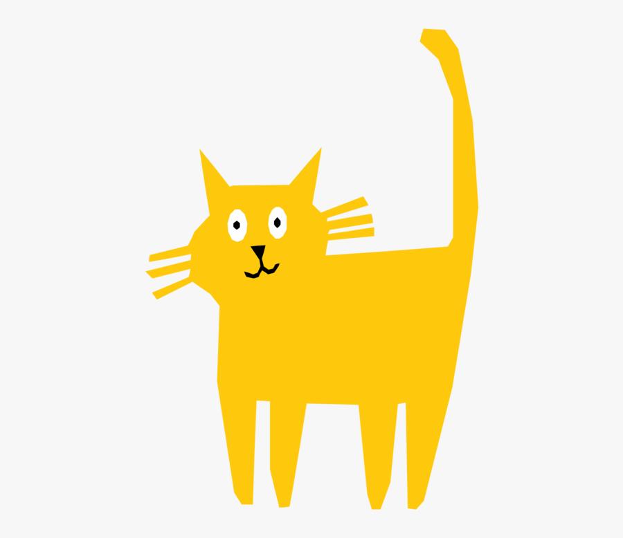 Carnivoran,kitten,yellow - Cat, Transparent Clipart