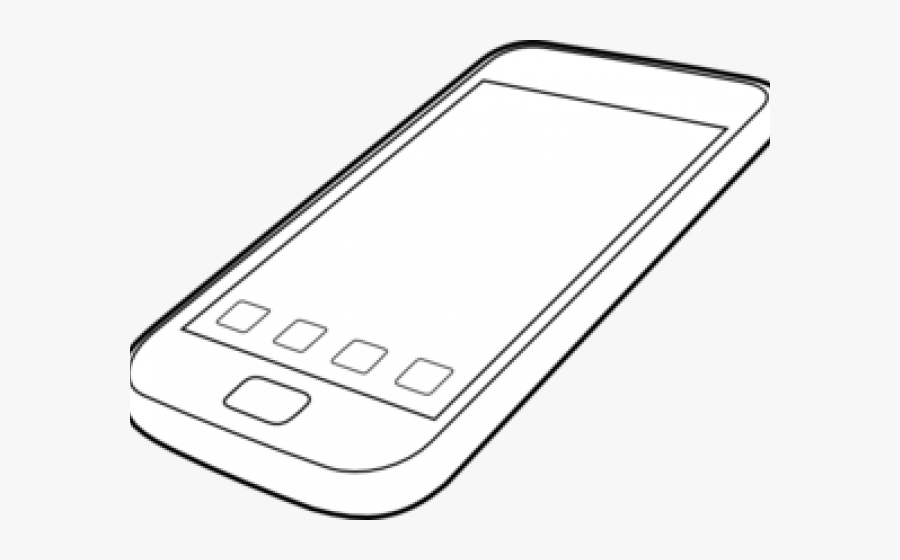 Smart Phone Black And White Free Transparent Clipart Clipartkey