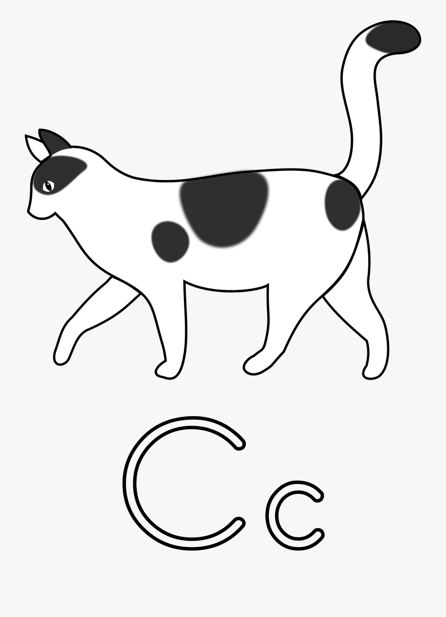 Cat Walking Clipart Black And White, Transparent Clipart