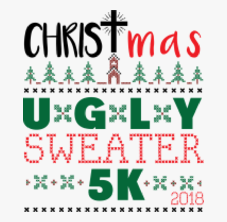 Christmas Ugly Sweater 5k, Transparent Clipart
