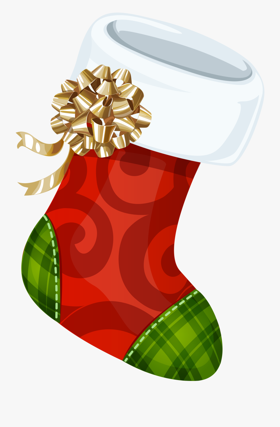 Clip Art Library With Gold Bow Png Picture Gallery - Big Christmas Stocking Clipart, Transparent Clipart