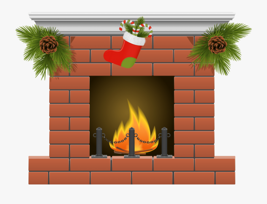 Transparent Christmas Stockings Png - Christmas Fireplace Clipart, Transparent Clipart