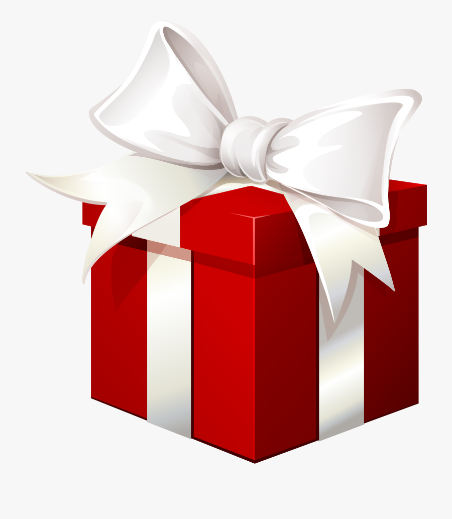 Red Gift Box With - Red Gift Box Png, Transparent Clipart