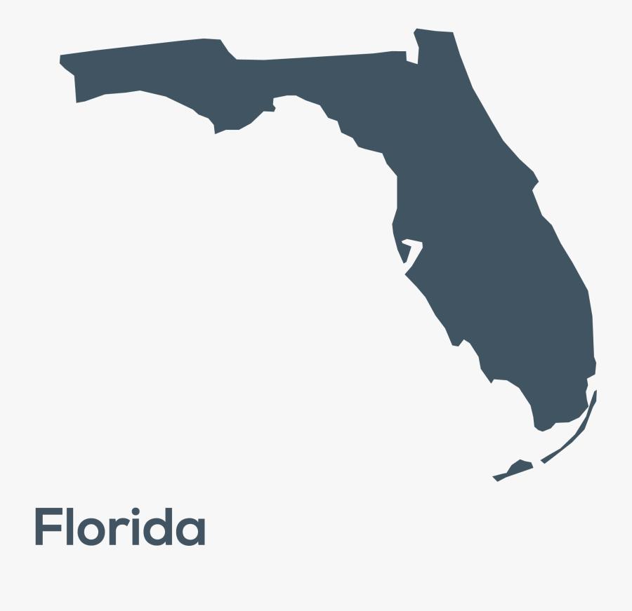 U S States Shapes - Florida Map Icon, Transparent Clipart