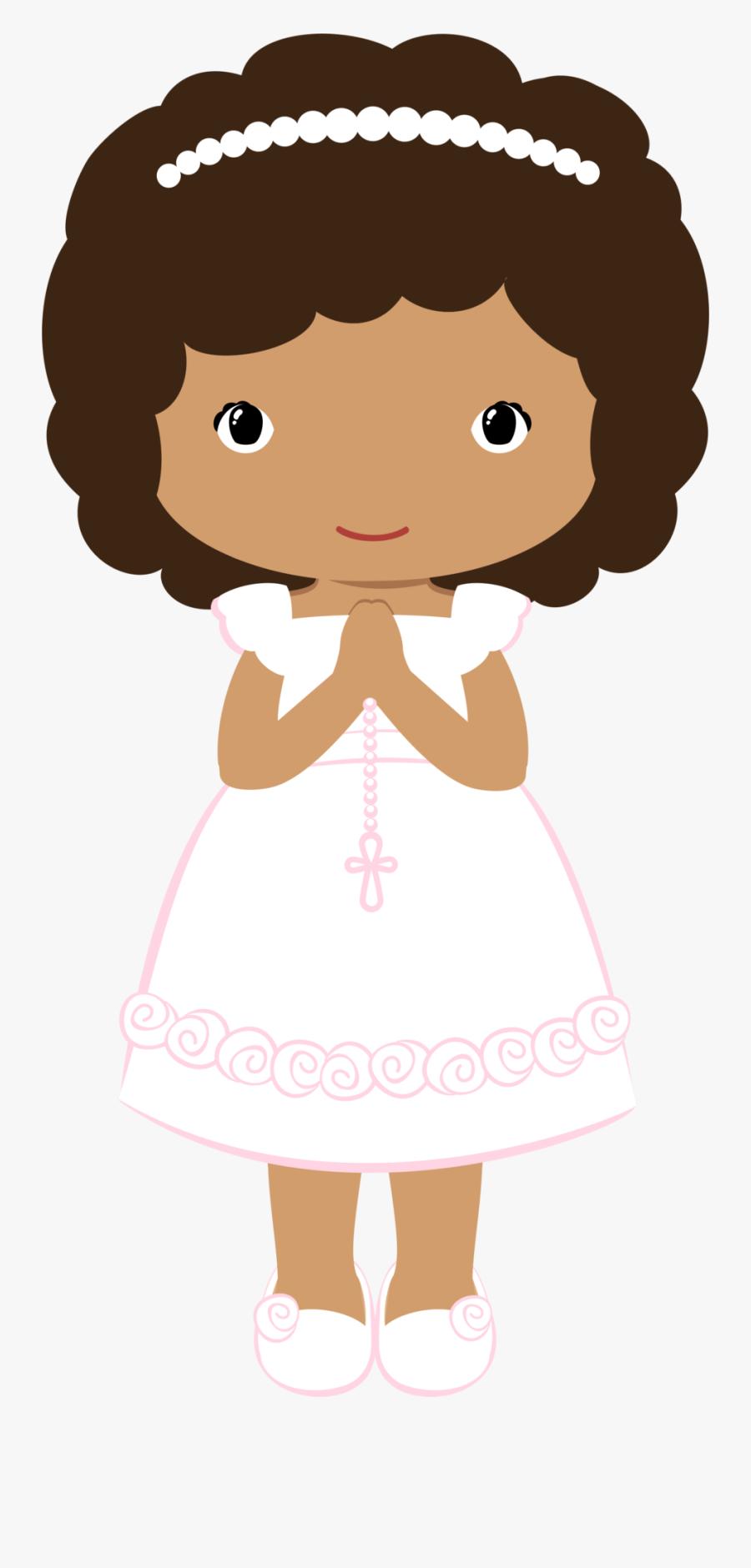 Girl First Communion Clipart, Transparent Clipart