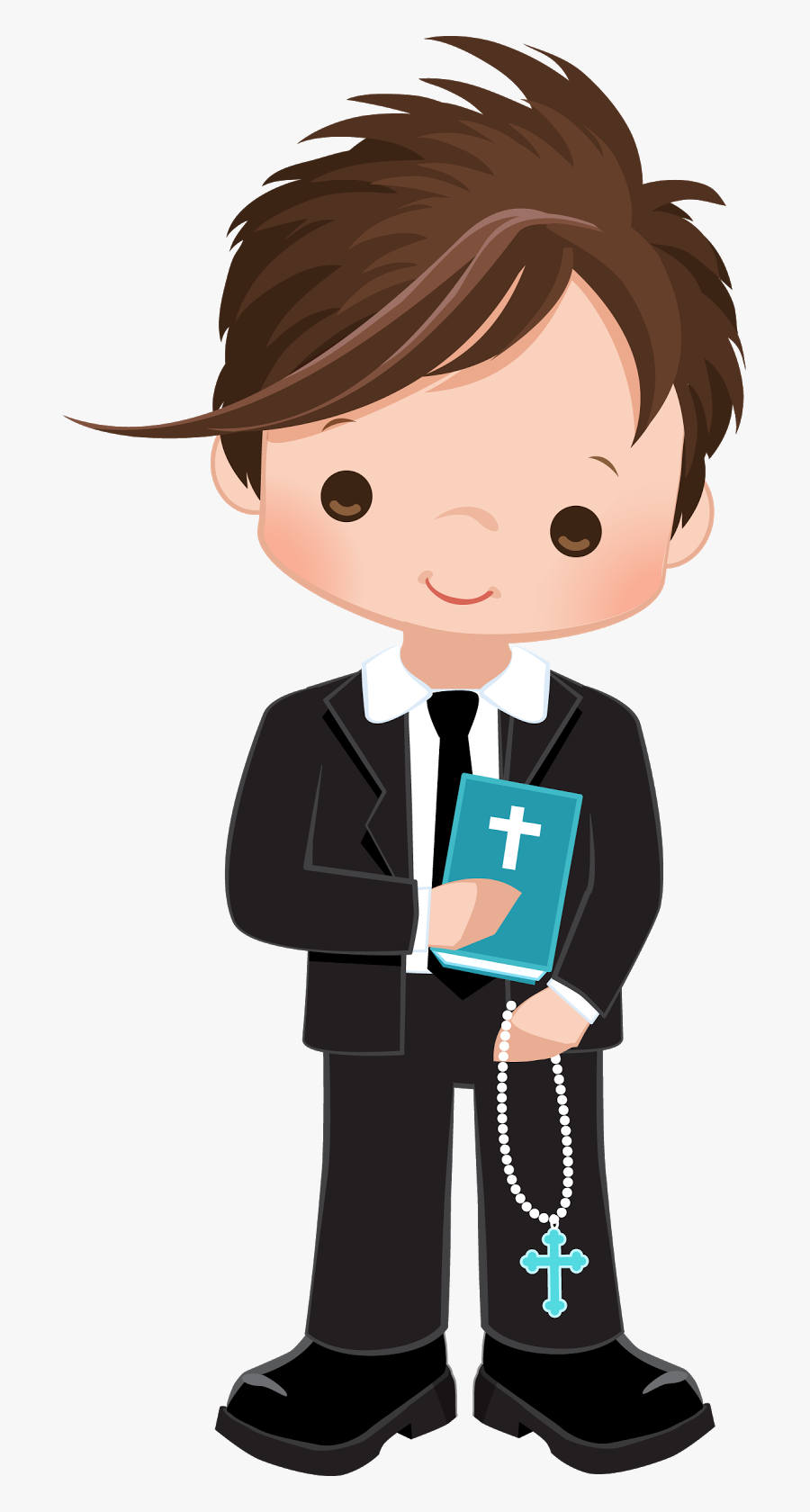 Primera Comunion Ni%c3%b1os %281%29 - Boy First Communion Clipart, Transparent Clipart