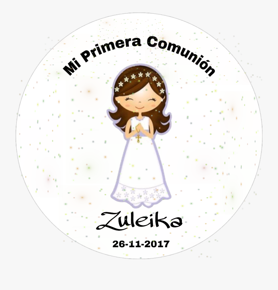 #mi Primera Comunión - Holy Communion Girl Clip Art, Transparent Clipart