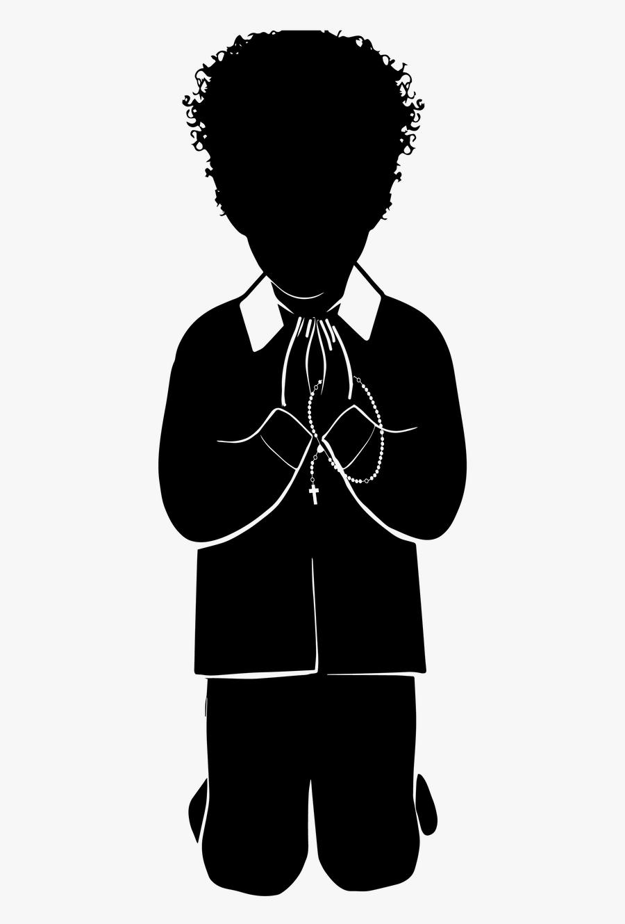 First Communion Catholic Boy Praying - Illustration, Transparent Clipart