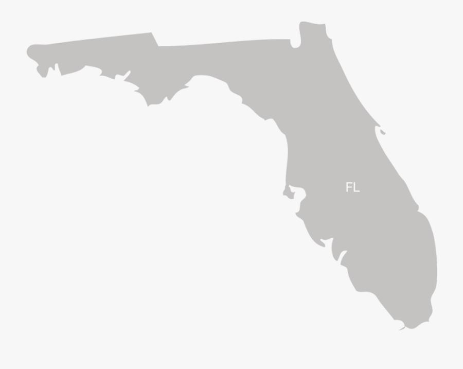 Florida State Vector - Florida 2016 Election Map, Transparent Clipart