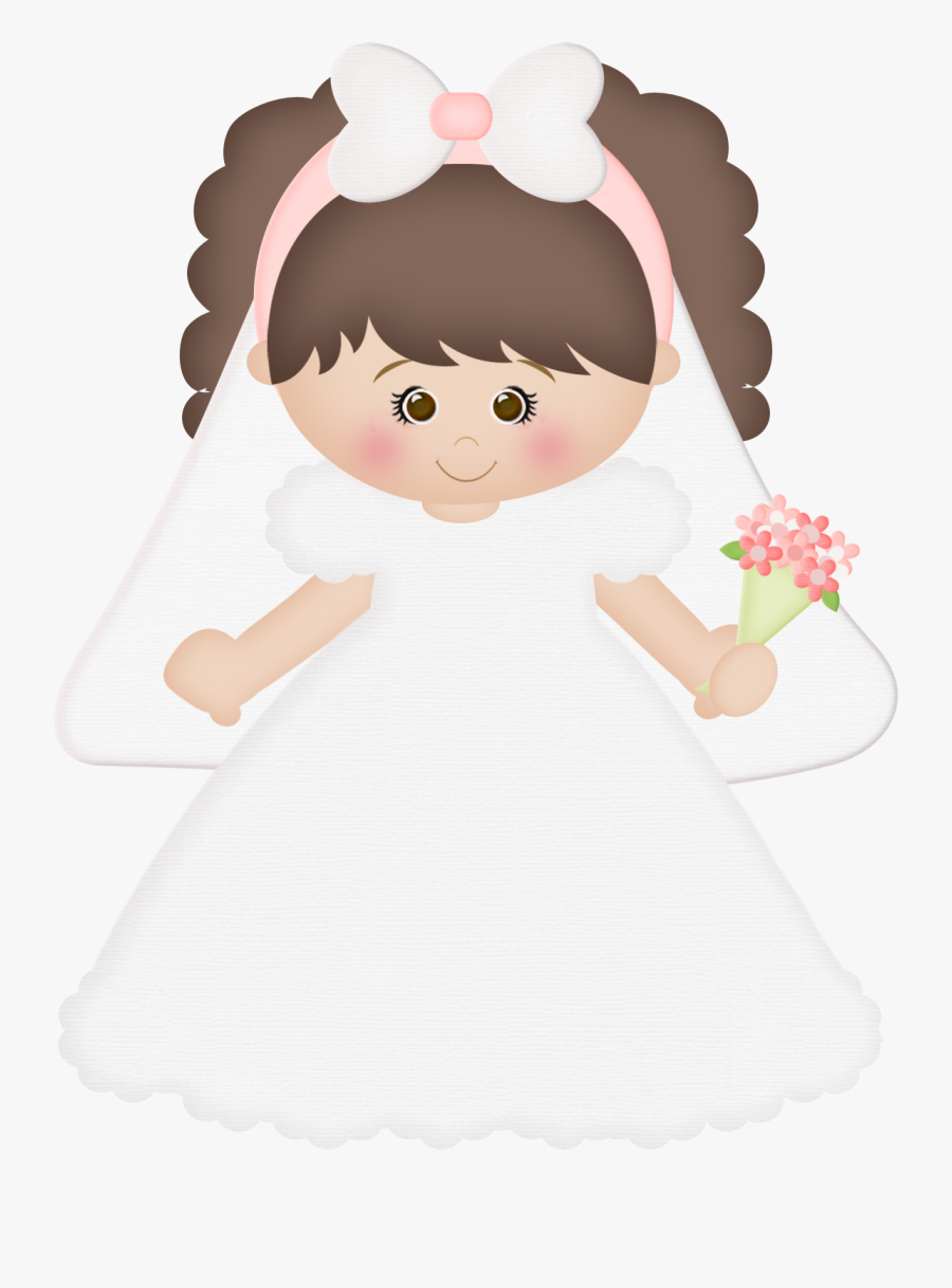 Casamento Girl Clipart, Clip Art Pictures, First Communion, - Noivinha Minus, Transparent Clipart