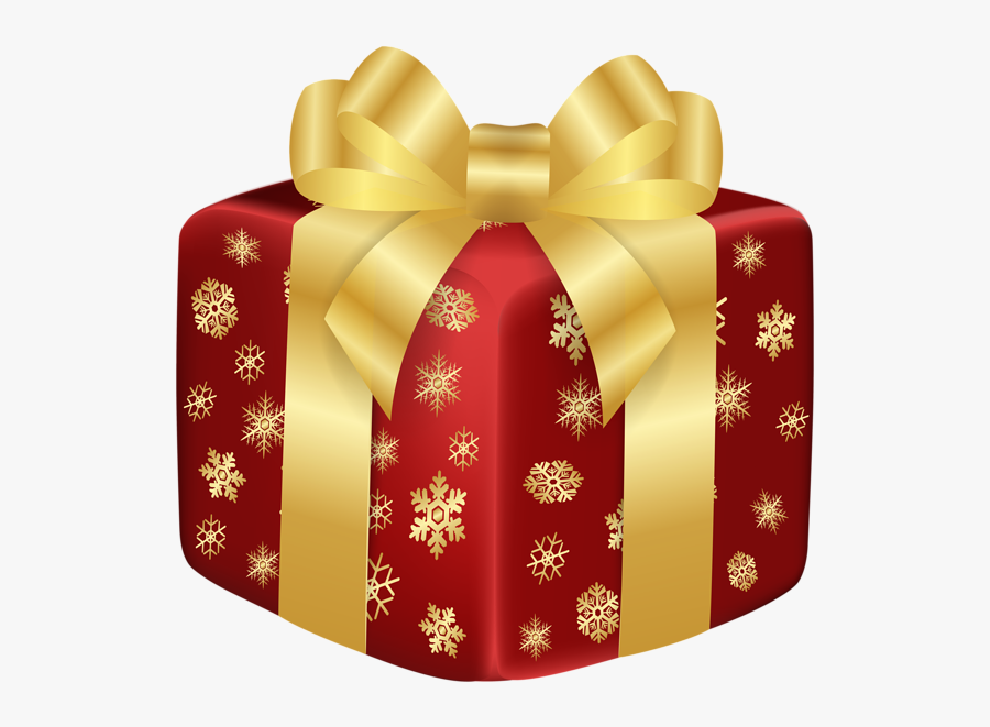Christmas Red Gift Png Clip Art Image - Gold Christmas Gift Box Clip Art, Transparent Clipart