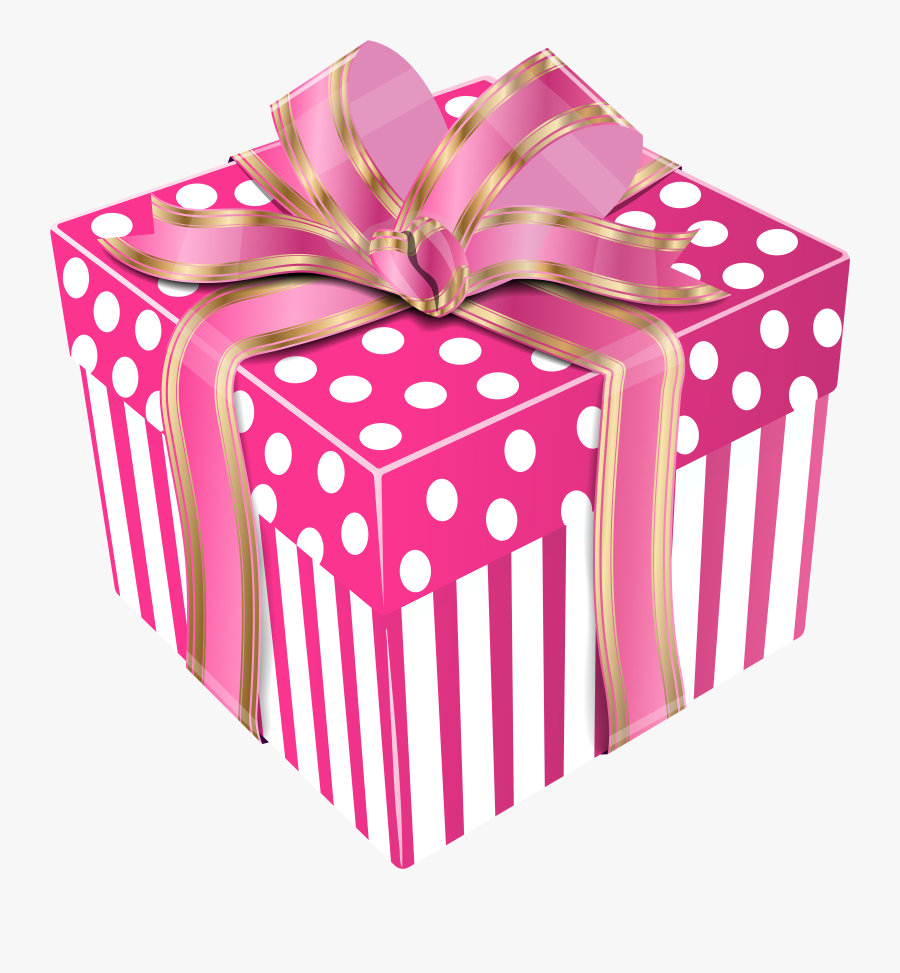 Gifts Clipart Pink Gift - Blue Gift Box Png, Transparent Clipart