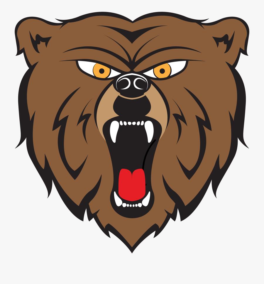 Bear By Hulmdesign Big - Clip Art Angry Bear, Transparent Clipart