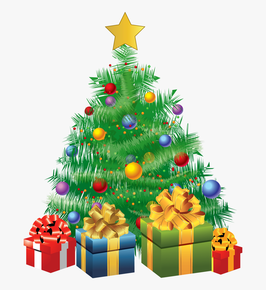 Transparent Christmas Green Tree With Gifts Png Picture - Christmas Tree With Gifts Transparent, Transparent Clipart