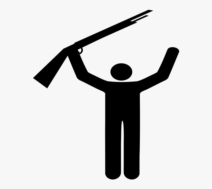 Angle,symbol,silhouette - Silhouette Stick Man Pose, Transparent Clipart