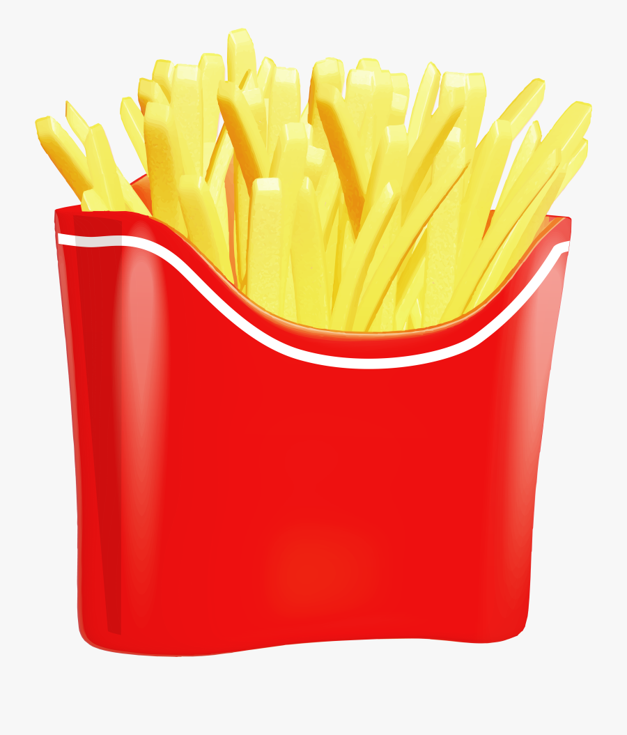 Potato Chips Clipart Non Healthy Food - French Fries Clipart Png, Transparent Clipart