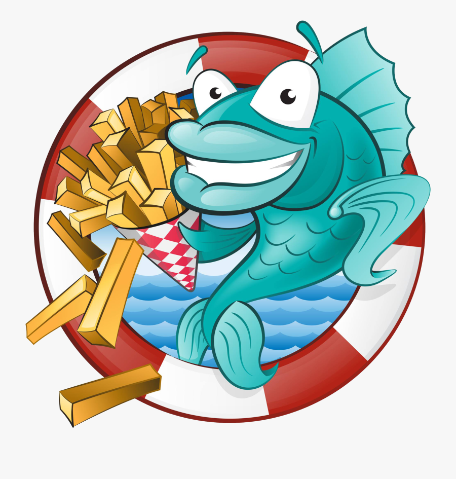Fish Clipart Chips - Fish N Chips Animated, Transparent Clipart