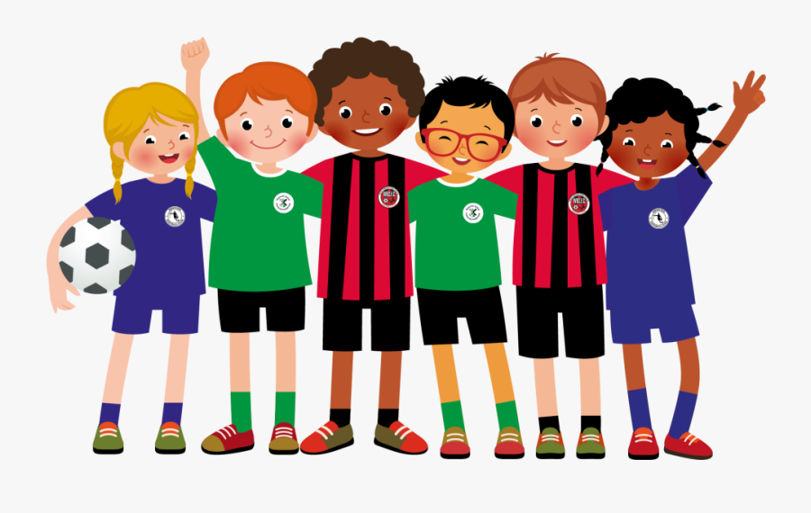 Transparent Kids Playing Soccer Png - Transparent Soccer Team Clipart, Transparent Clipart