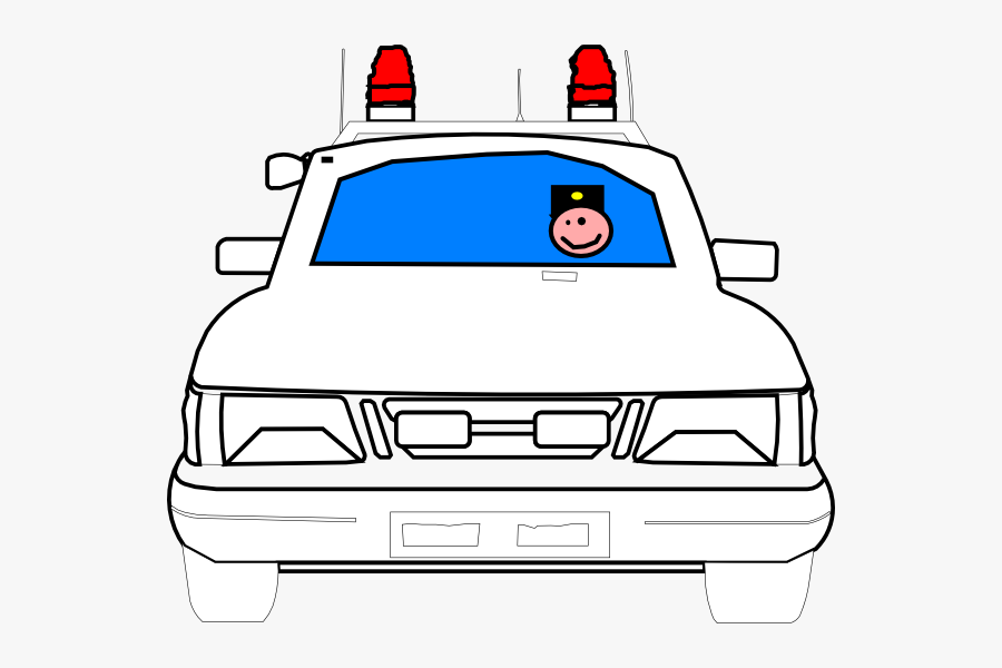 Cop In The Car Coloring Page, Transparent Clipart