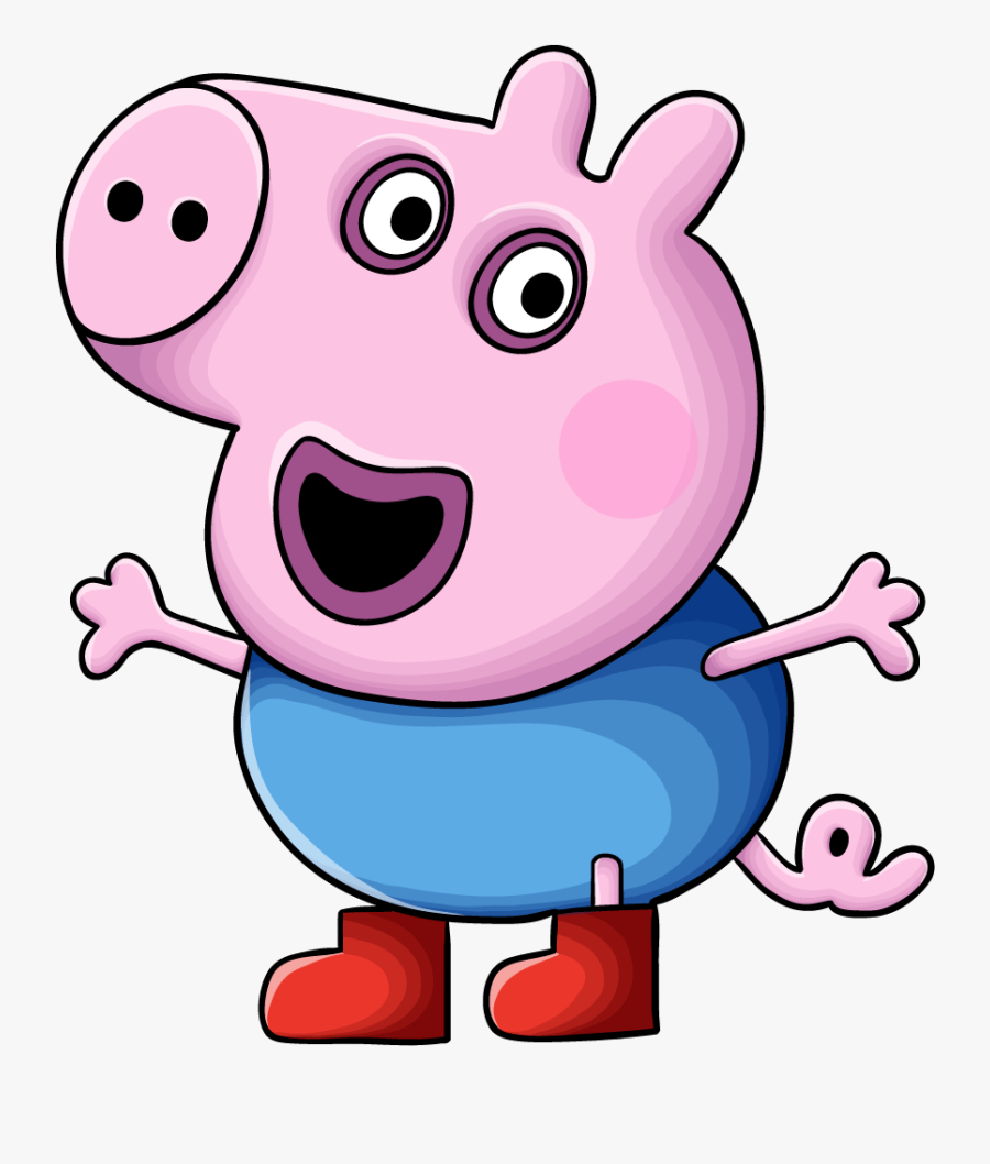 Peppa Pig Characters - Superheroes Easy To Draw, Transparent Clipart